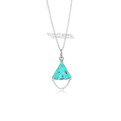 TIFFANY&Co. 粉藍琺瑯 歡樂派對帽 925純銀項鍊