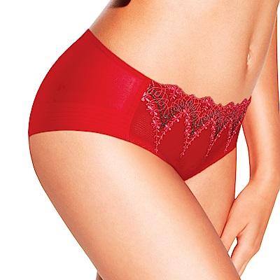 黛安芬-逆齡Bra系列平口內褲 M-EL 魔力紅