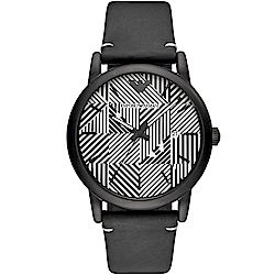 Emporio Armani幾何美學時尚腕錶(AR11136)黑/43mm
