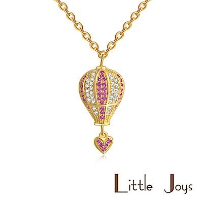 Little Joys 原創設計品牌 粉白鑽石愛心氣球鋯石項鍊 925銀鍍金