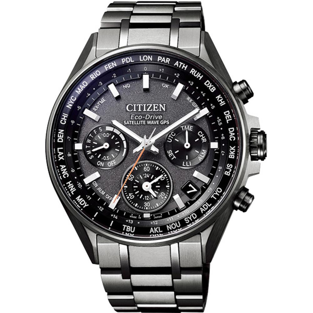 CITIZEN 星辰 限量光動能GPS衛星對時錶腕錶-廣告款(CC4004-58E)