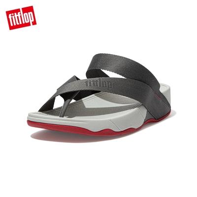 【FitFlop】SLING TOE-POST SANDALS 簡約夾腳涼鞋-男(錫灰色)
