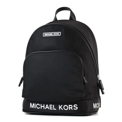 MICHAEL KORS 專櫃款 高密度尼龍拉鍊後背包-黑色/大