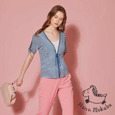 sandwish_ 荷蘭製 條紋印花外套造型上衣(兩穿)-水手藍