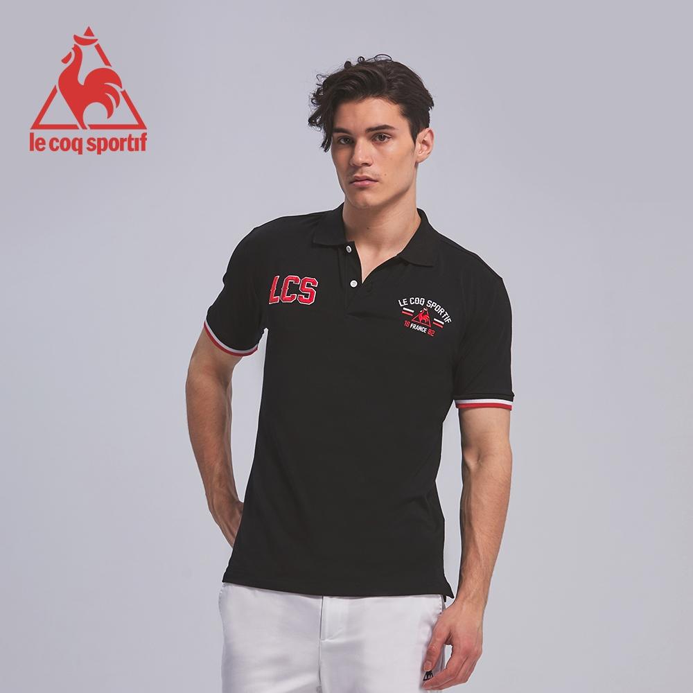 法國公雞牌短袖POLO衫 LON2314299-男-黑