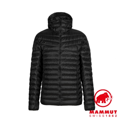 【Mammut 長毛象】Albula IN Hooded Jacket 防潑水連帽羽絨外套 黑色 男款 #1013-01780