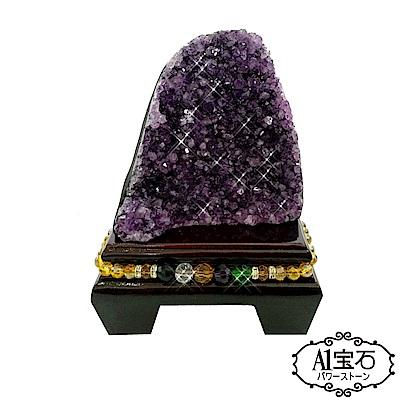 A1寶石 頂級巴西天然紫晶鎮/陣《630g》加贈五行水晶木座/開運金錢母