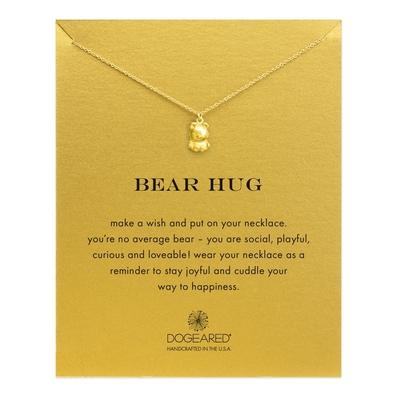 Dogeared 美國品牌Reminder金色許願項鍊-可愛小熊