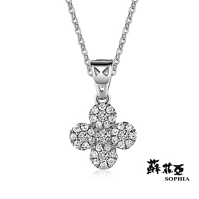 蘇菲亞SOPHIA 鑽鍊 - Yumi系列四花朵造型鑽石項鍊