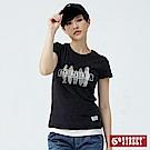 5th STREET 衝浪印花 短袖T恤-女-黑灰