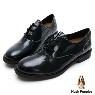 Hush Puppies Bailey 女牛津鞋-漆皮黑