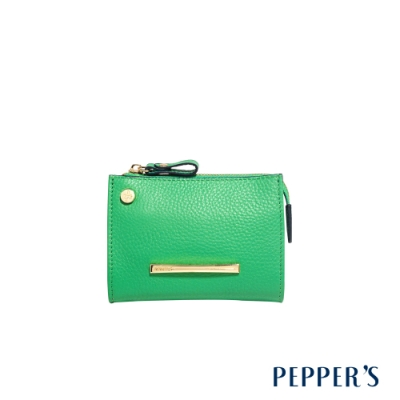 PEPPER S Marley 牛皮鑰匙零錢包 - 蘇打綠