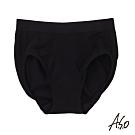 A.S.O 負離子女性內褲無縫修飾款-黑