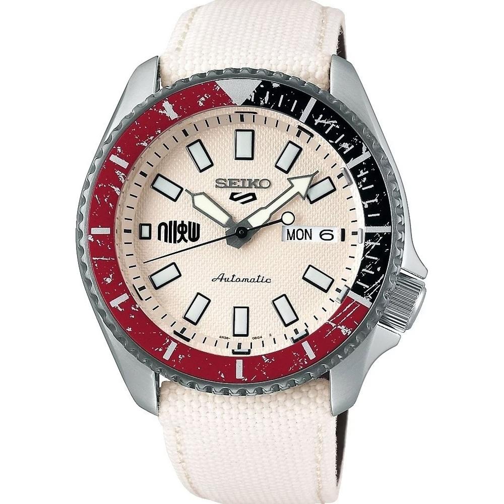 SEIKO 5 Sports 快打旋風5聯名限量機械錶 RYU 隆 (4R36-08P0W/SRPF19K1)/42.5mm