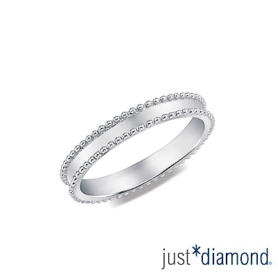鎮金店 Just Diamond 18K金 浪漫誓言男女對戒-男戒