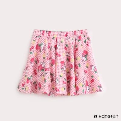 Hang Ten-Sanrio-童裝Hello Kitty滿版印花休閒裙