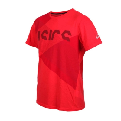 ASICS 男 TOKYO短袖T恤 紅