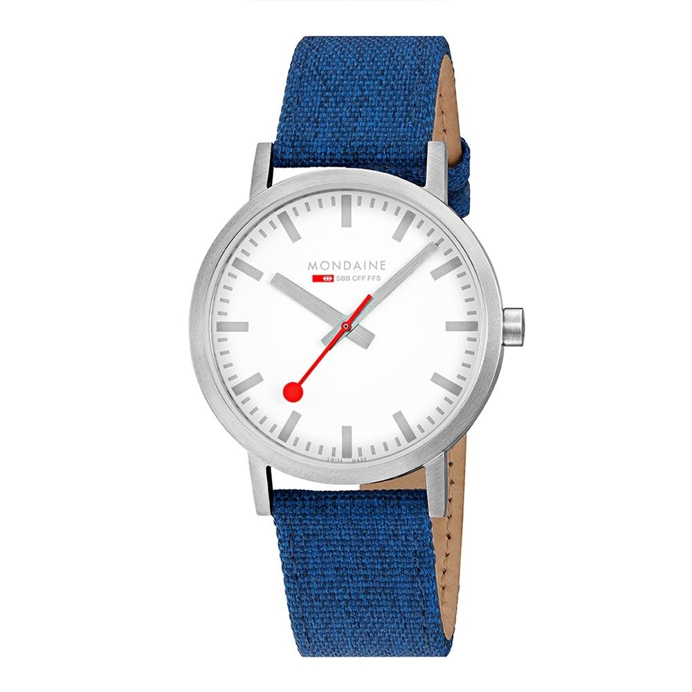 MONDAINE 瑞士國鐵 SBB Classic男士腕錶 - 40mm / 單寧藍 66017BD