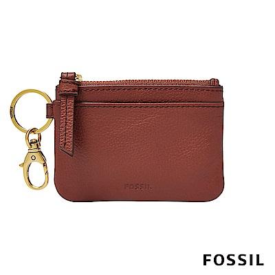 FOSSIL AUBREY 零錢卡夾鑰匙包-酒紅色