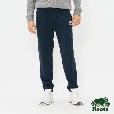 男裝Roots  BREATHE棉質長褲-藍