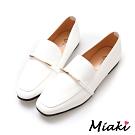 Miaki-樂福鞋韓風穿搭平底休閒包鞋-白