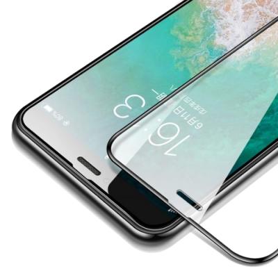 iPhone XS Max 9D 滿版 透明 9H 鋼化玻璃膜 手機螢幕保護貼