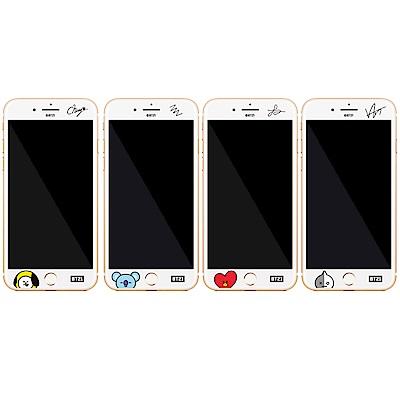 GARMMA 宇宙明星BT21 iPhone 6S/7/8+ 滿版鋼化玻璃膜