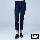 Lee 418 九分中腰緊身窄管牛仔褲/BO-深藍色