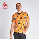 le coq sportif 法國公雞牌七龍珠聯名款 經典紋章印花短袖T恤 男-橘