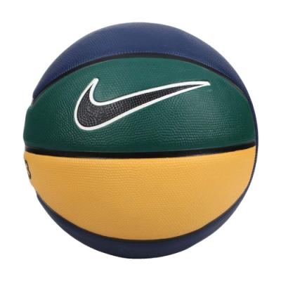 NIKE LEBRON PLAYGROUND 4P 7號籃球-室內外 訓練 N000278449007 丈青黃綠