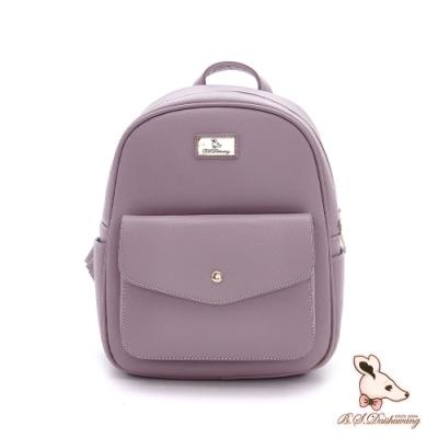 B.S.D.S冰山袋鼠-濃情札記x典雅造型後背包-暗紫色