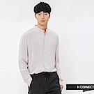 H:CONNECT 韓國品牌 男裝-圓領排扣嫘縈襯衫-卡其