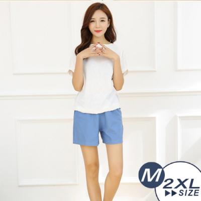 【LANNI 藍尼】八色亞麻寬鬆短褲-5色+