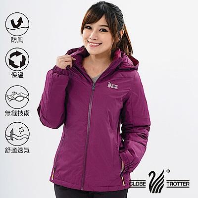 【遊遍天下】女款防風透濕保暖無車縫羽絨機能外套GJ22008酒紅