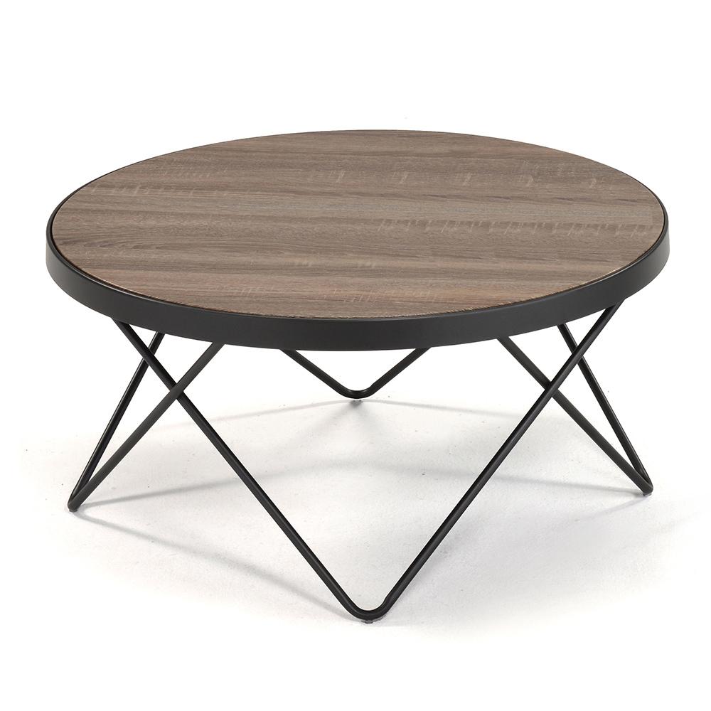 aaronation - 時尚工業風木紋咖啡桌82*82*40