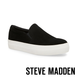 STEVE MADDEN-GILLS特殊紋平底懶人鞋-絨黑色