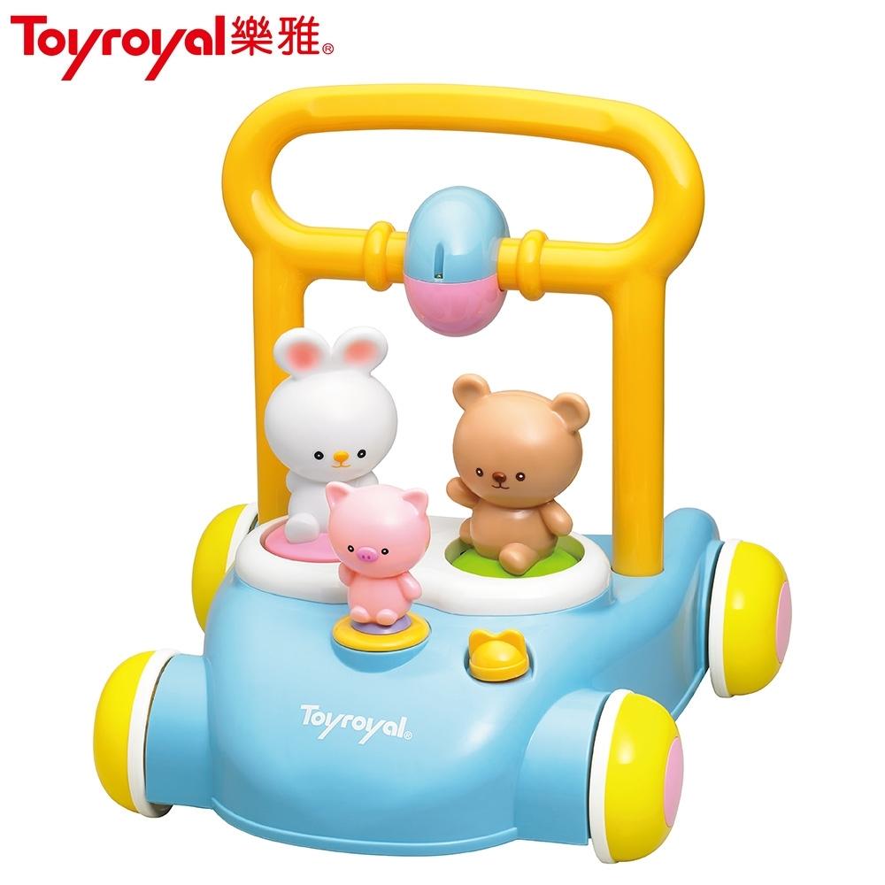 日本《樂雅 Toyroyal》森林好朋友音樂助步車