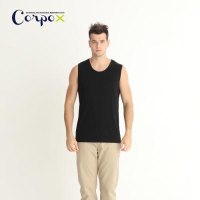 CorpoX男款持續涼感天絲背心-黑