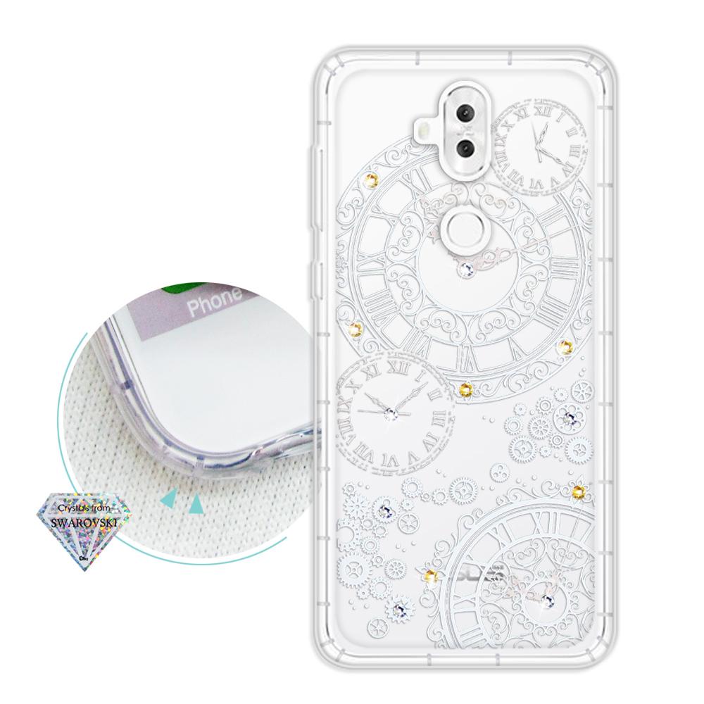 浪漫彩繪 ASUS ZenFone 5Q ZC600KL 水鑽空壓氣墊手機殼(齒輪之星)