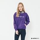 Hang Ten -女裝-純色字母印花千鳥紋連帽上衣-紫
