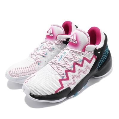 adidas 籃球鞋 DON Issue 2 GCA 男鞋 愛迪達 避震 包覆 支撐 球鞋 運動 白 粉 FZ1432