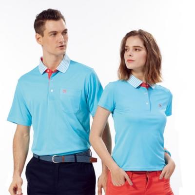 Abel Fox s Sports藍色線條領男版短袖POLO衫-WER504-05