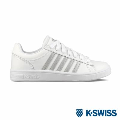 K-SWISS Court Winston休閒運動鞋-女-白/銀