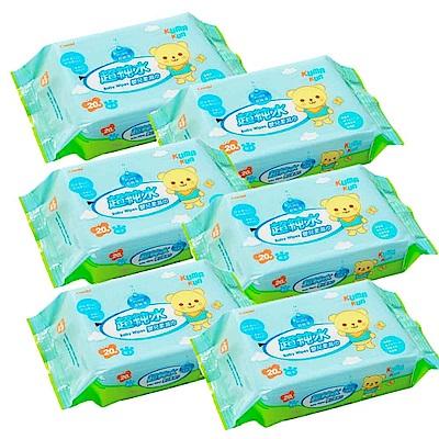 【麗嬰房】Combi ?Kuma Kun 超純水嬰兒柔濕巾20抽 6入