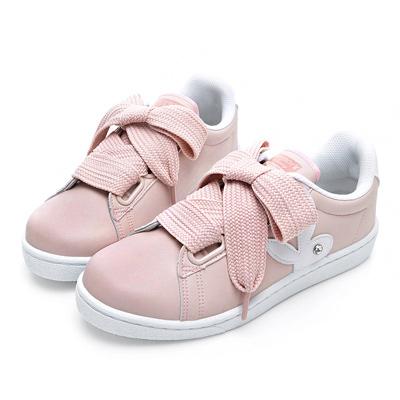 PLAYBOY微甜創作 仿皮寬版綁帶休閒鞋-粉