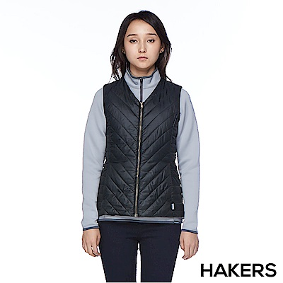 【HAKERS 哈克士】女款 保暖背心(黑色)