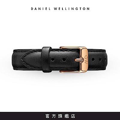 DW 錶帶 14mm金扣 爵士黑真皮皮革錶帶
