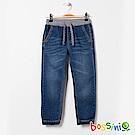 bossini男童-束口牛仔褲01靛藍