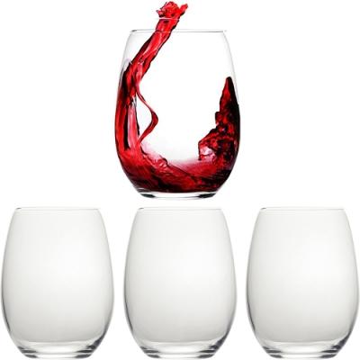 《CreativeTops》薄壁紅酒杯4入(584ml)