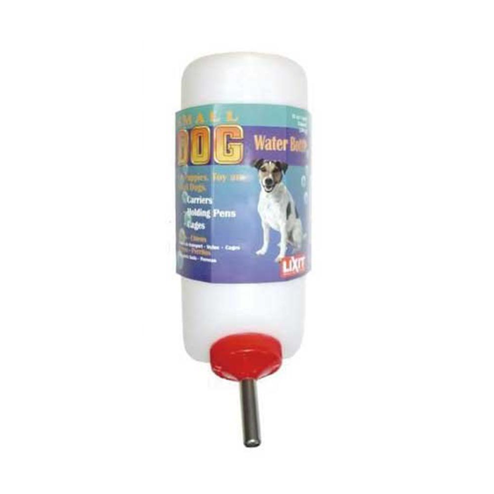 金德恩 美國製造 LIXIT 45度出水鋼管設計 中小型犬飲水瓶 960cc/附彈簧掛繩
